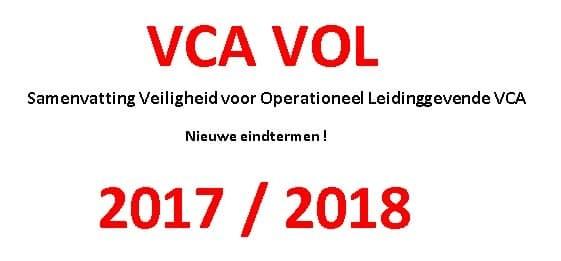 Samenvatting VCA VOL