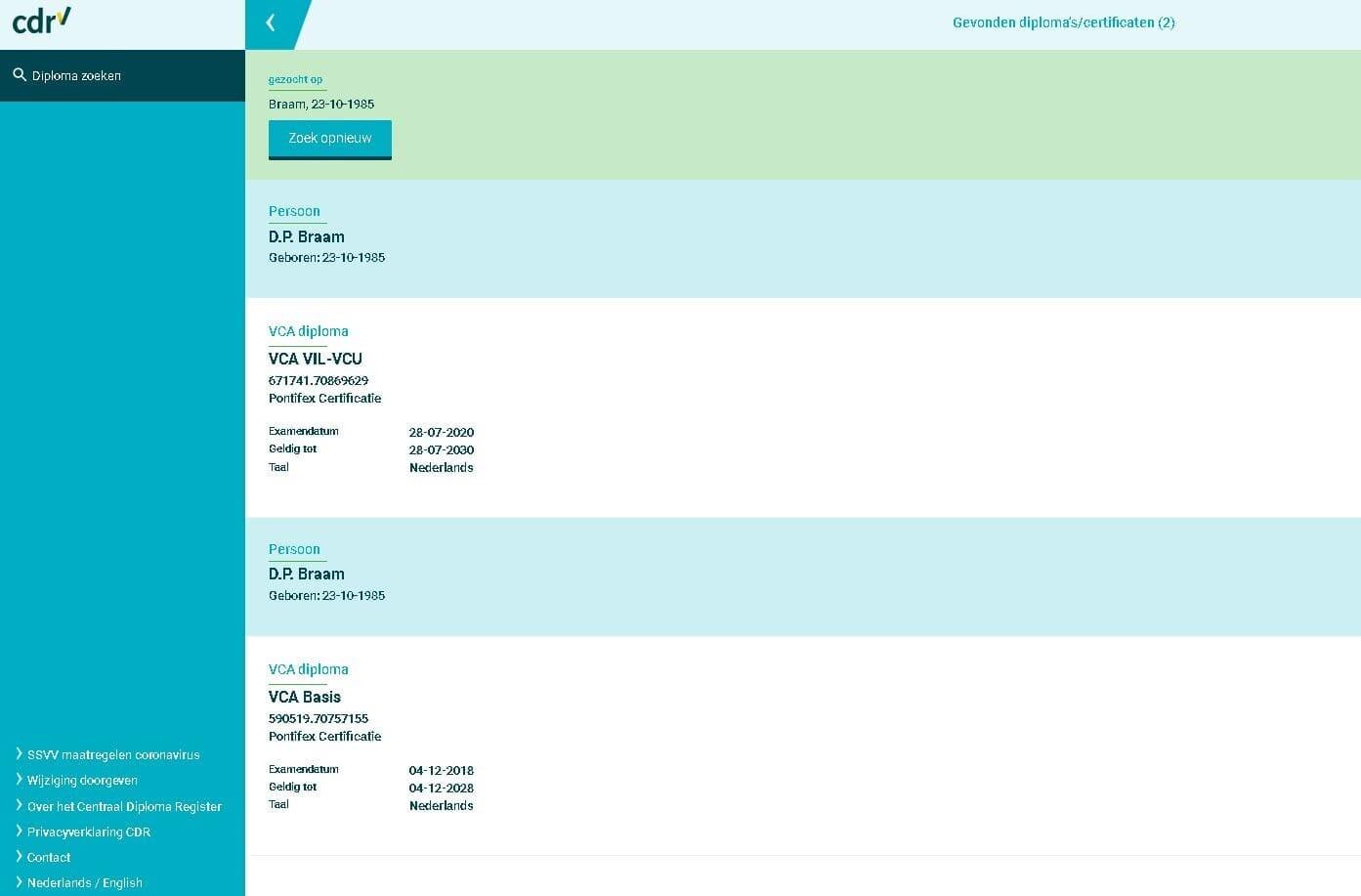 VCA Databank